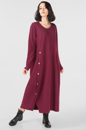 Платье оверсайз бордового цвета it 302|интернет-магазин vvlen.com