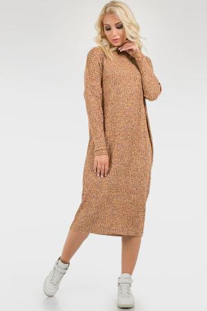 Платье оверсайз горчичного цвета 2665-2.31|интернет-магазин vvlen.com