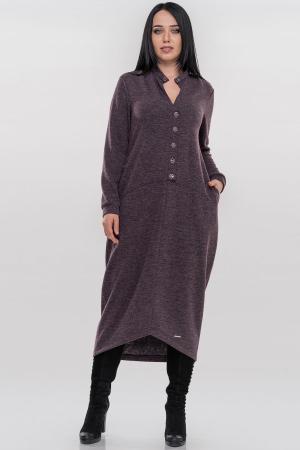 Повседневное платье  мешок серо-фиолетового цвета|интернет-магазин vvlen.com