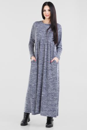 Платье оверсайз серого с синим цвета 2678.17|интернет-магазин vvlen.com