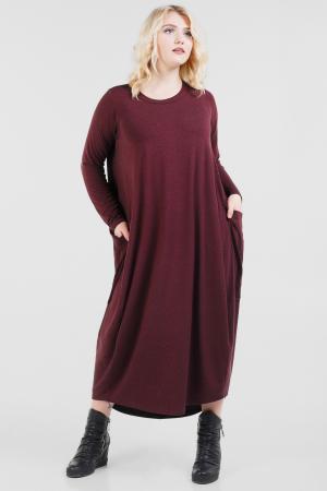 Платье оверсайз бордового цвета 2675.17|интернет-магазин vvlen.com