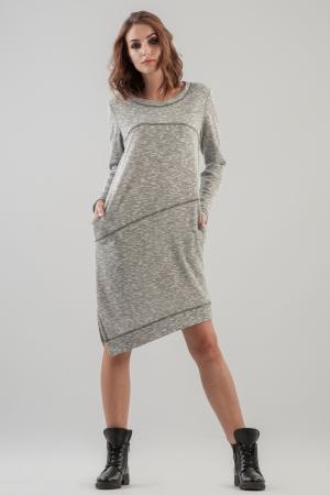 Спортивное платье  серого цвета 2621.97 интернет-магазин vvlen.com