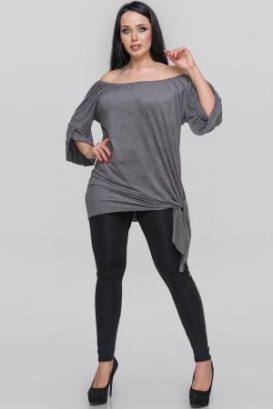 Туника асимметричная серого цвета|интернет-магазин vvlen.com