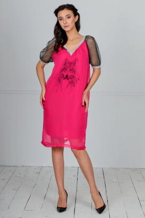 Клубное платье балахон малинового цвета|интернет-магазин vvlen.com