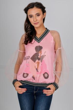 Блуза пудры цвета kl  1802|интернет-магазин vvlen.com