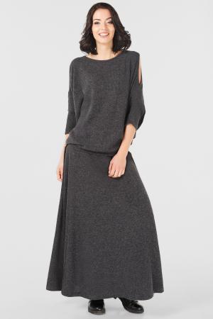 Женский костюм оверсайз темно-серый цвета|интернет-магазин vvlen.com