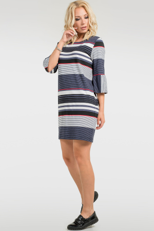 Повседневное спортивное платье полоски джинс цвета 2709.17 интернет-магазин vvlen.com