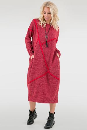 Платье оверсайз красного цвета 2739.106|интернет-магазин vvlen.com