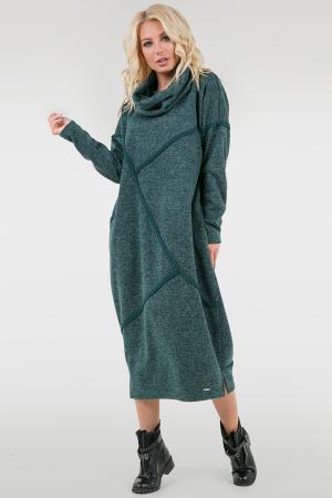 Платье оверсайз зеленого цвета 2739.106|интернет-магазин vvlen.com