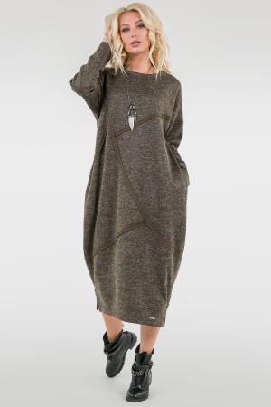 Платье оверсайз хаки цвета 2739.106|интернет-магазин vvlen.com