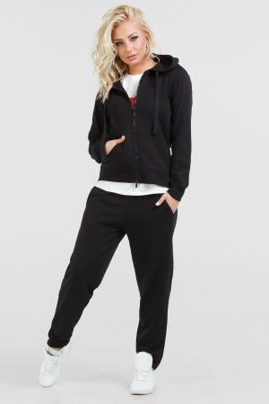 Спортивный костюм черного цвета 067|интернет-магазин vvlen.com