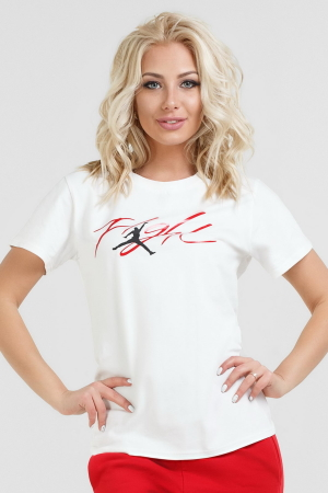 Женская футболка белого цвета 069|интернет-магазин vvlen.com