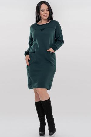 Повседневное платье  мешок зеленого цвета 2869.94|интернет-магазин vvlen.com