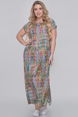Летнее платье  мешок бордовый с лимонным цвета|интернет-магазин vvlen.com