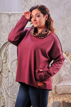 Худи оверсайз бордового цвета  |интернет-магазин vvlen.com