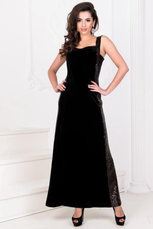 Вечернее платье годе черного цвета 2769-1.26|интернет-магазин vvlen.com