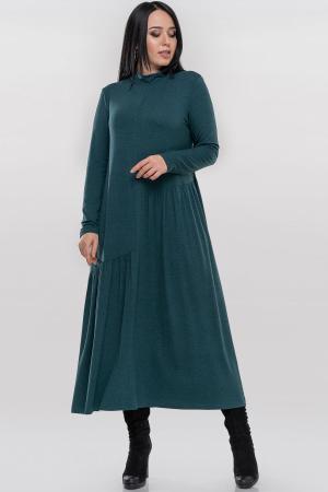 Повседневное платье оверсайз зеленого цвета 2877.17|интернет-магазин vvlen.com