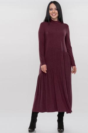 Повседневное платье оверсайз бордового цвета 2877.17|интернет-магазин vvlen.com