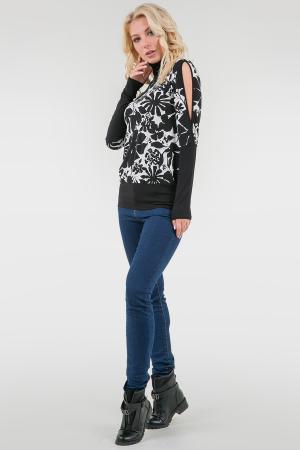 Гольф черного с белым цвета 633.17|интернет-магазин vvlen.com