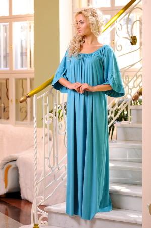 Платье оверсайз бирюзового цвета 2423.86|интернет-магазин vvlen.com
