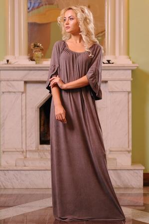 Платье оверсайз капучино цвета 2423.86|интернет-магазин vvlen.com