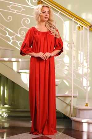 Платье оверсайз красного цвета 2423.86|интернет-магазин vvlen.com