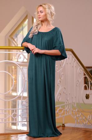 Платье оверсайз темно-зеленого цвета 2423.86|интернет-магазин vvlen.com