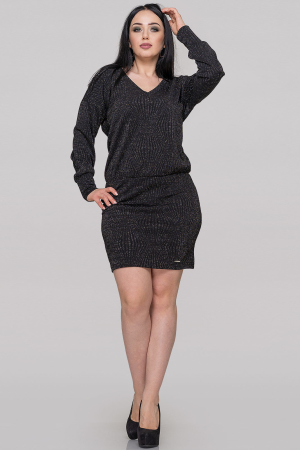 Коктейльное платье с открытой спиной черного цвета|интернет-магазин vvlen.com