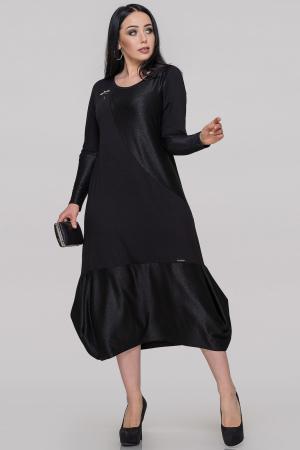 Платье  мешок черного цвета 2898.17|интернет-магазин vvlen.com