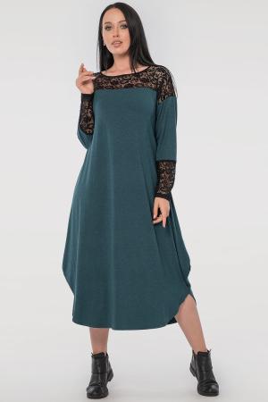 Платье оверсайз зеленого цвета 2481.17|интернет-магазин vvlen.com