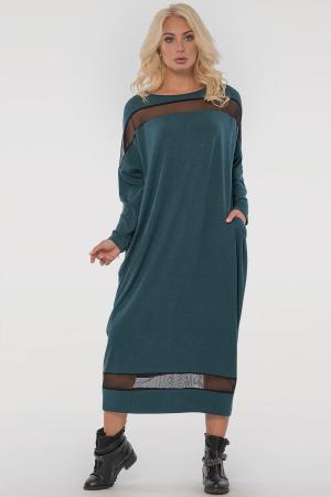 Платье оверсайз зеленого цвета 2711.17|интернет-магазин vvlen.com