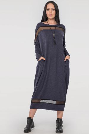 Платье оверсайз синего цвета 2711.17|интернет-магазин vvlen.com