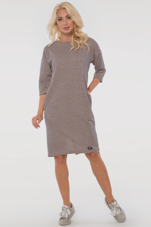Повседневное платье  мешок пудры с синим цвета|интернет-магазин vvlen.com