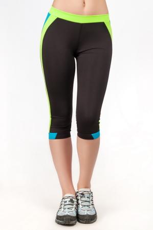 Бриджи для фитнеса черного с голубым цвета 2361.67|интернет-магазин vvlen.com
