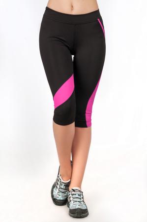 Лосины для фитнеса черного с розовым цвета 2362 .67|интернет-магазин vvlen.com