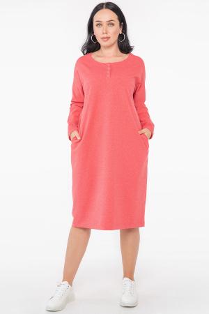 Платье оверсайз кораллового цвета 2954.79 |интернет-магазин vvlen.com