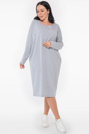 Платье оверсайз светло-серого цвета 2954.79 |интернет-магазин vvlen.com