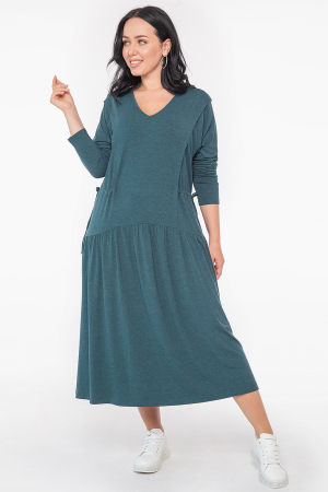 Платье оверсайз зеленого цвета 2953.17 |интернет-магазин vvlen.com
