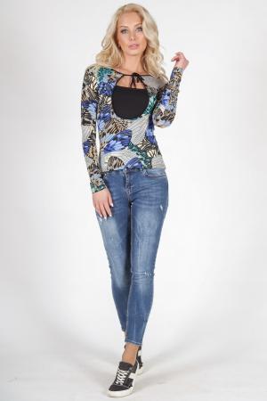Блуза синего тона цвета|интернет-магазин vvlen.com
