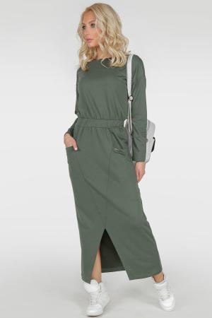 Спортивное платье  хаки цвета 2781.79 интернет-магазин vvlen.com