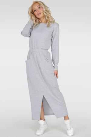 Спортивное платье  светло-серого цвета 2781.79 интернет-магазин vvlen.com