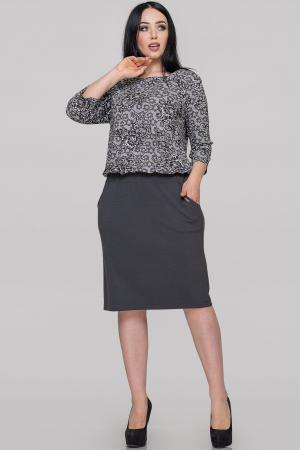 Платье футляр серого цвета |интернет-магазин vvlen.com