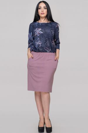 Платье футляр синего тона цвета |интернет-магазин vvlen.com