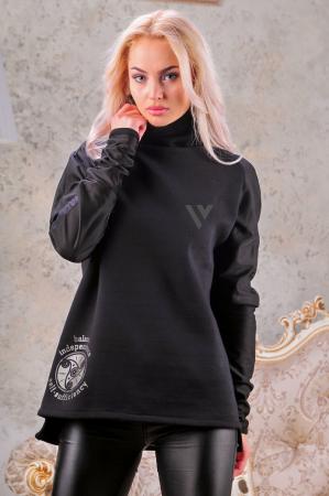 Свитшот черного цвета  2461.90|интернет-магазин vvlen.com