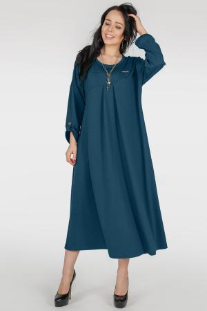 Платье оверсайз темная морская волна цвета 2796.79|интернет-магазин vvlen.com