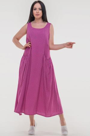 Летнее платье трапеция малинового цвета|интернет-магазин vvlen.com