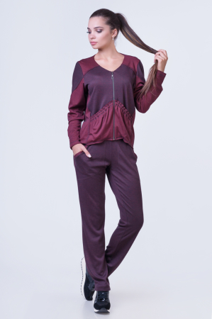 Домашний костюм бордового цвета |интернет-магазин vvlen.com