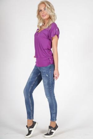 Женская футболка сиреневого цвета 790.17|интернет-магазин vvlen.com