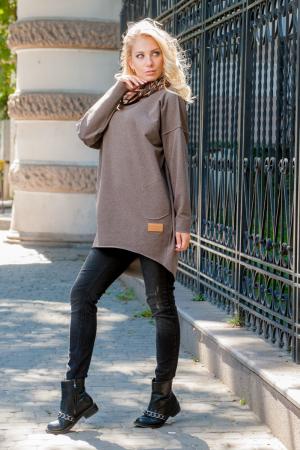 Худи оверсайз коричневого цвета  2404.79|интернет-магазин vvlen.com