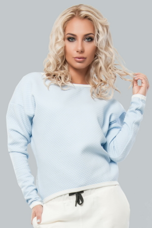 Свитшот серо-голубого цвета  |интернет-магазин vvlen.com